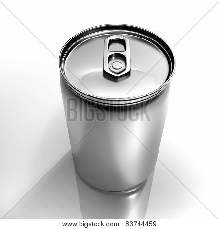 Isolated Beverage Aluminium Can Isolated On White Background