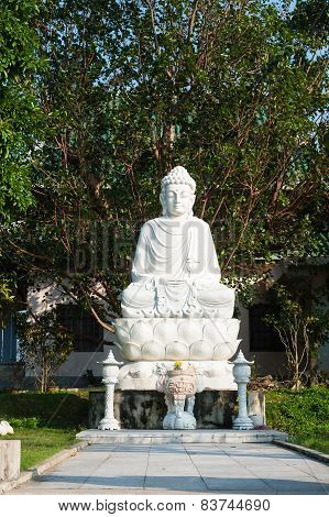 The Statue Of Sitting Buddha Linh Ung Pagoda, Da Nang, Vietnam