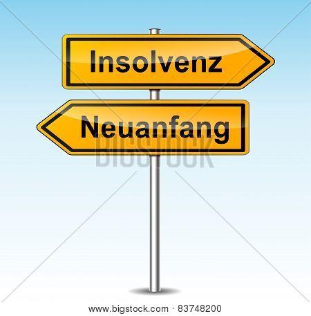 Insolvency Sign (german Translation)
