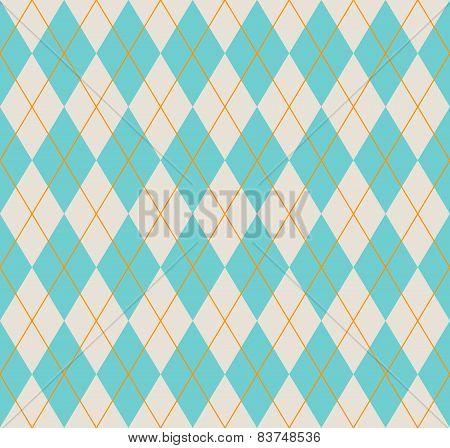 Seamless Blue Argyle Pattern.