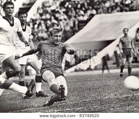 Vintage photo soccer