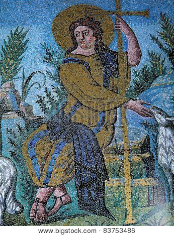 Byzantine mosaic  in Mausoleum of Galla Placidia