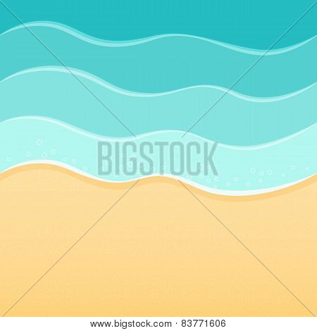 Summer sea beach background waves and sand. Travel resort relax spa concept. Seamless sides.