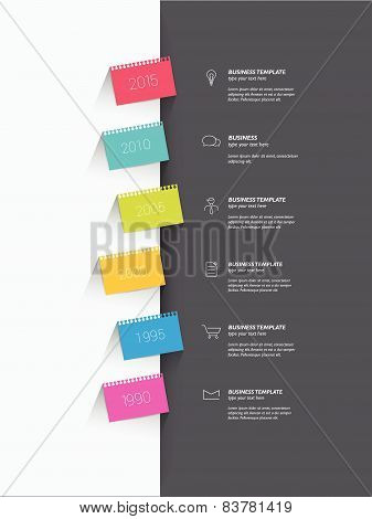 Timeline infographic speach template. Simply vector design.