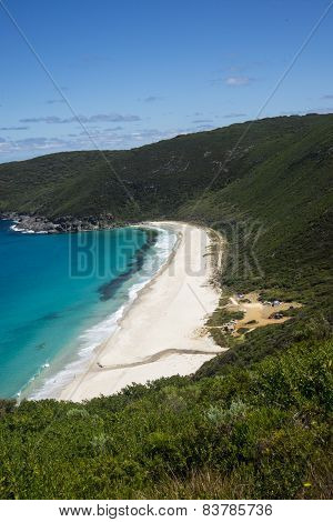 A scenic view of Shelley Beach in West Cape Howe National Park near Albany