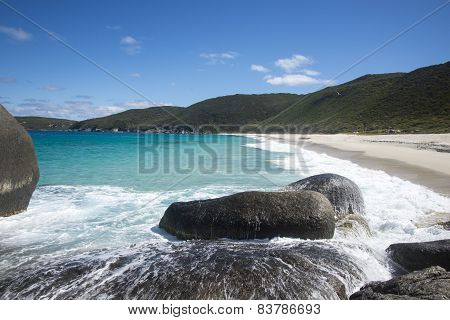 Scenic view of Shelley beach in West Cape Howe National Park near Albany