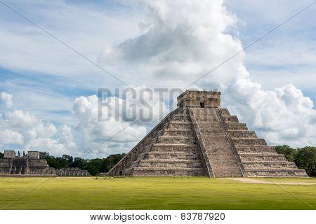 Chichen Itza Main Building. Mayan Historic Building. Traveling Cancun, Mexico, Riviera Maya. Near Pl