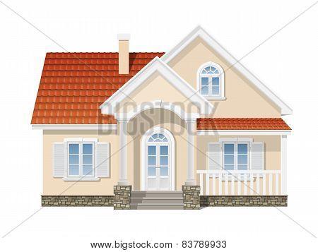 Suburban House Isolated