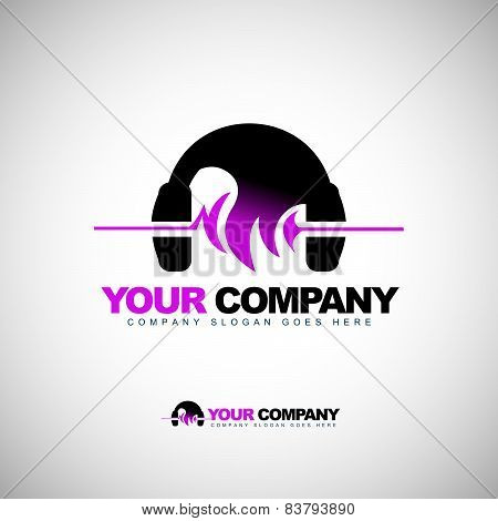 Music Headphones Logo
