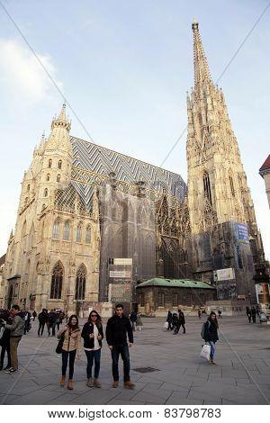 St. Stephen's Cathedral In Vienna,austria