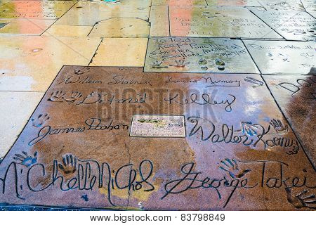 Star Trek Hand Prints Chinese Theater Hollywood