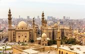 View of the Mosques of Sultan Hassan and Al-Rifai in Cairo - Egypt poster