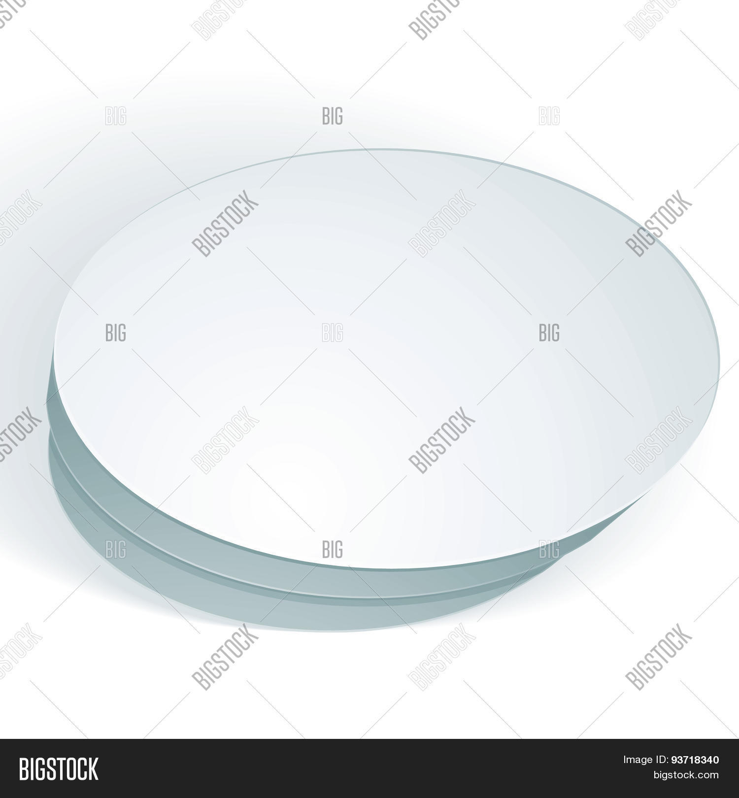 Vector Blank Round Vector Photo Free Trial Bigstock