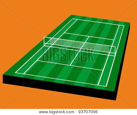 Tennis Grass court field