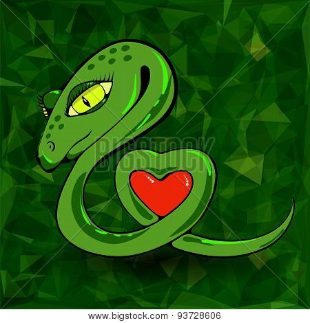 Snake and Heart