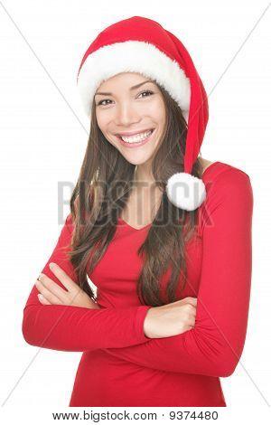 Santa Woman Smiling