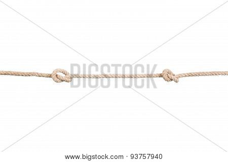 Ship ropes with knotes