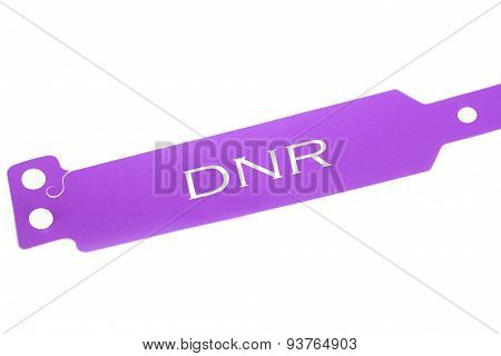 Do not resuscitate purple identification bracelet hospital poster