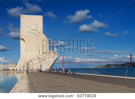embankment of river Tagus, Lisbon, Portugal