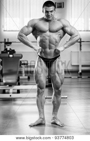 Bodybuilder in the gym Stock Photo
