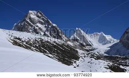Majestic Mountains In The Everest Region