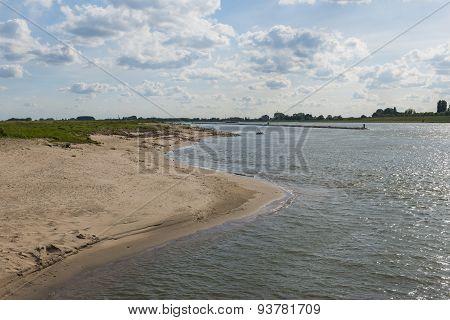 River Waal And Beach