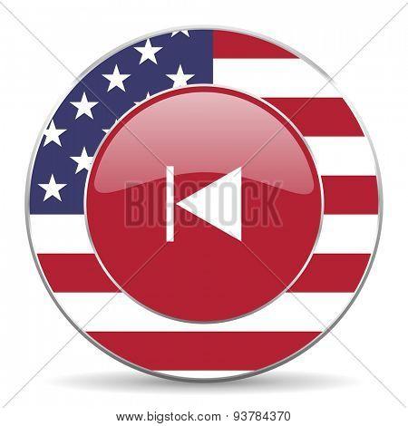prev american icon original modern design for web and mobile app on white background