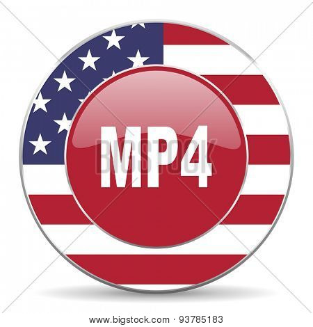 mp4 american icon original modern design for web and mobile app on white background