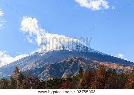 Mount Fuji , Located On Honshu Island.