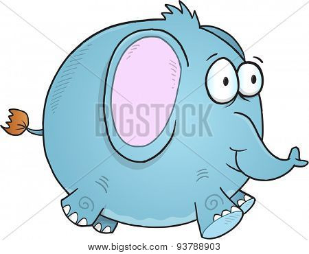 Illustration of Little blue Elephant isolated on white background