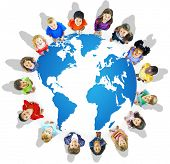 Global Globalization World Map Environmental Conservation Concept poster