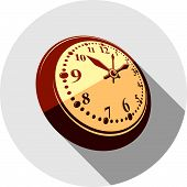 3d pocket watch, vector graphic illustration. Three-dimensional timer, classic stopwatch. Time management symbolic icon. poster
