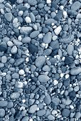 Blue color tinted beach stones natural abstract. poster