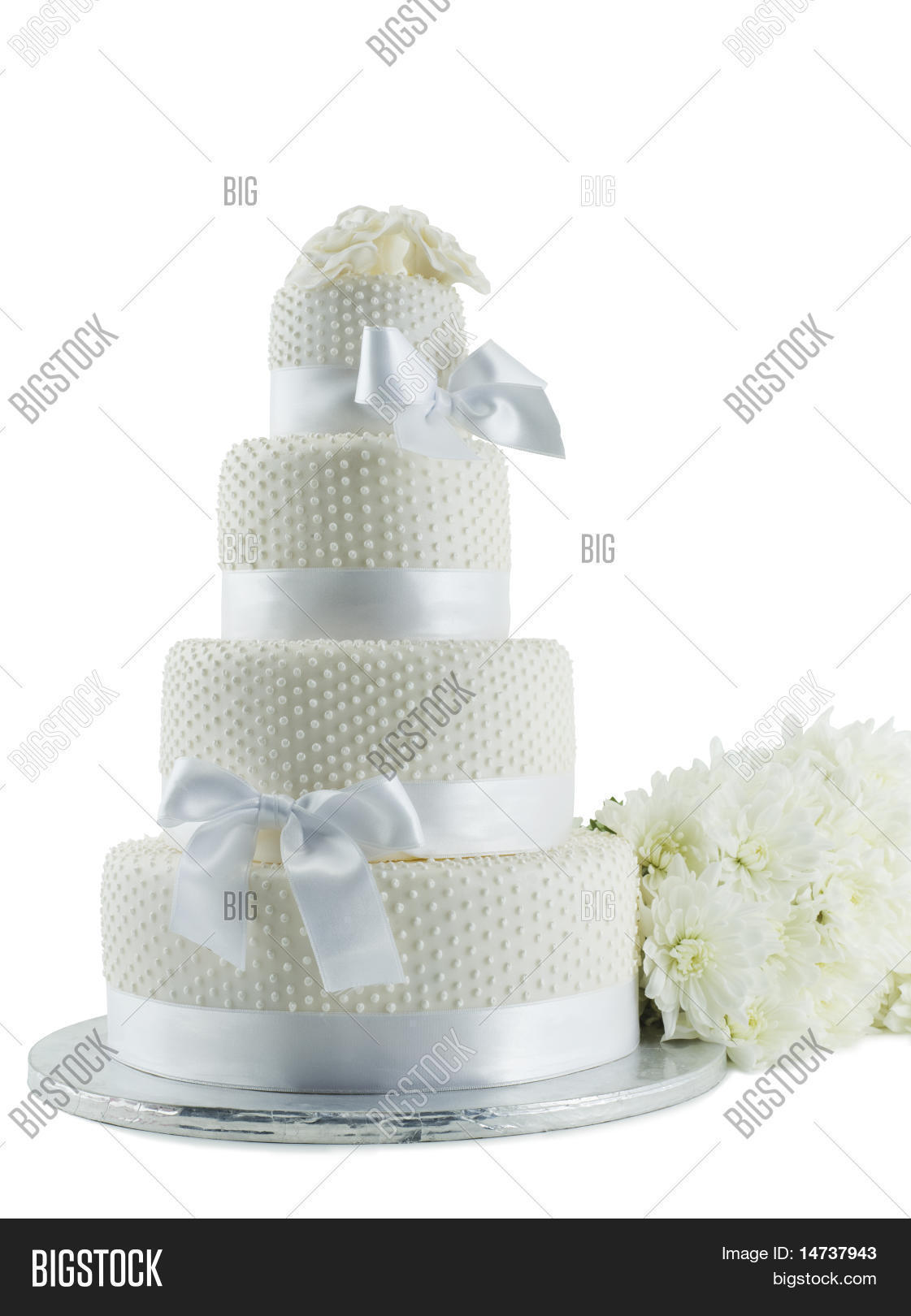 Wedding Cake Flowers Image Photo Free Trial Bigstock