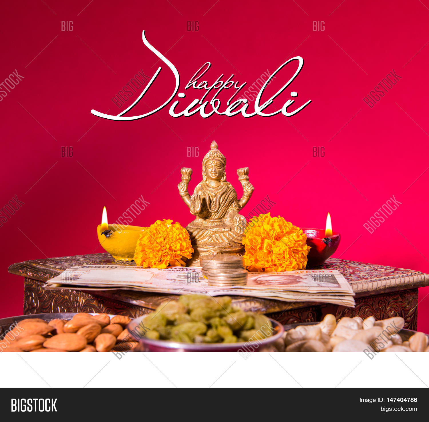 Happy Diwali Greeting Card Showing Image Photo Bigstock