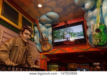 New Orleans, Louisiana, May 4, 2015 : A Bar Entrance In New Orleans French Quarter. Known For Its Ba