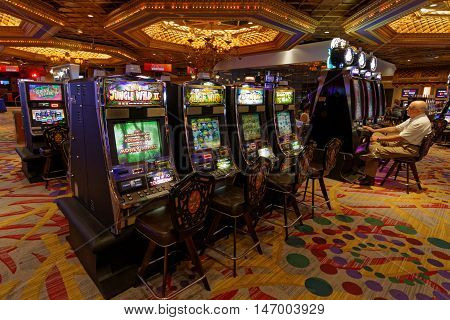 New Orleans, Louisiana, May 5, 2015 : With More Than 1800 Slot Machines, Casino Of New Orleans Offer