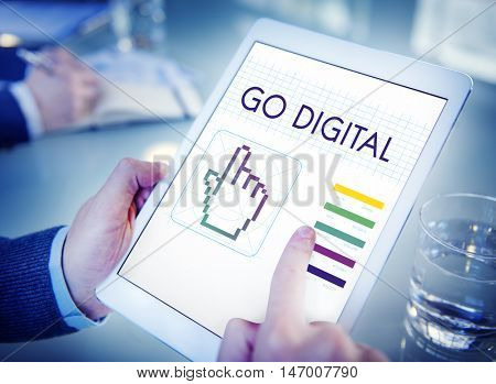 Go Digital Links Seo Webinar Cyberspace Concept