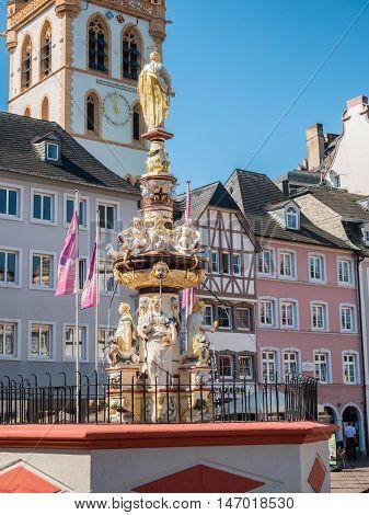 Petrusbrunnen St Peter's Fountain in Trier Germany