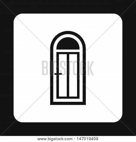Semicircular door icon in simple style isolated on white background. Interior symbol vector illustration