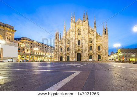 The Duomo Of Milan Cathedral In Milano, Italy
