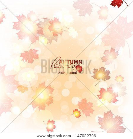Illustration of fuzzy soft warm autumn background.