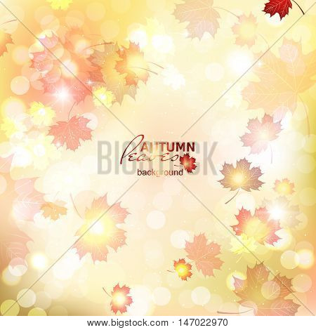 Illustration of fuzzy soft warm autumn background, deadwood.