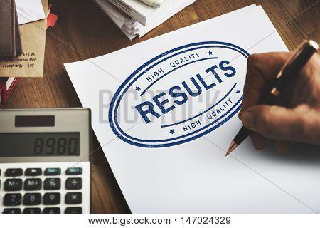 Results Evaluate Progress Outcome Productivity Concept