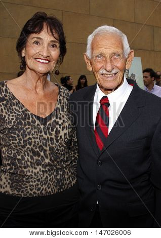 Juliette Paskowitz and Doc Paskowitz at the Los Angeles premiere of 'Surfwise' held at the Egyptian Theatre in Hollywood, USA on May 6, 2008.