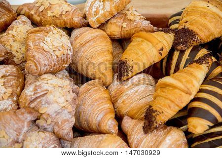 Fresh Baked Cookies Fluffy Croissants Pastries