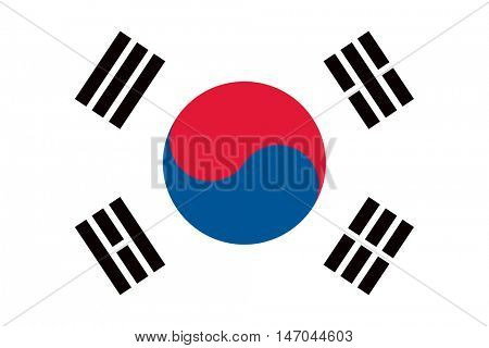 Vector South Korea flag