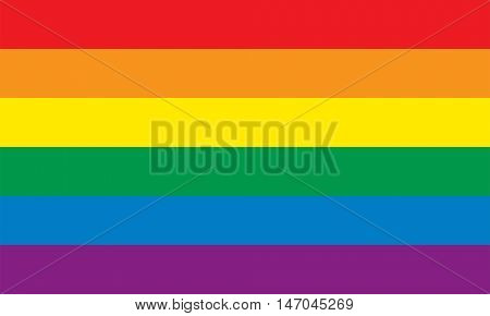 Lesbian Gay Bisexual and transgender pride flag