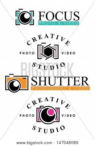 Photography Logo Concept, Photography Badges, Photography Vintage Style