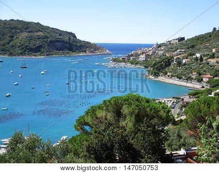 Top View Of The Coastline Around Portovenere B